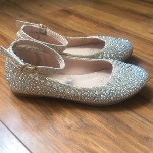 Link Girls Cute Rhinestone Ballet Ballerina Flats
